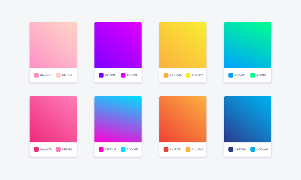 Choosing the right color gradient